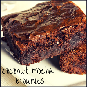 Coconut Mocha Brownies